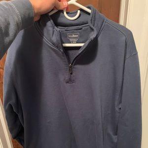 L.L.Bean Quarter Zip sweater Brand New! (L)